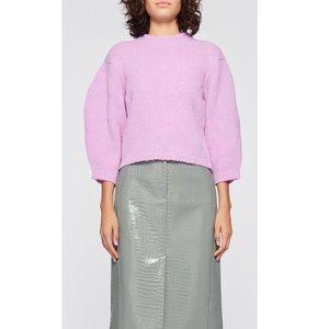 Tibi Cozette Alpaca Cropped Pullover Sweater XS